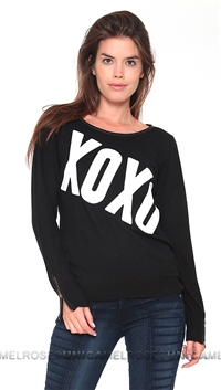 Feel the Piece Black XoXo Sweater