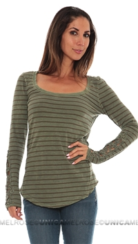 Free People Olive Hard Candy Cuff Top