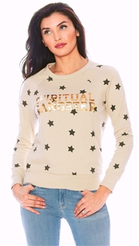 Spiritual Gangster Cement 'Varsity Stars' Old School Pullover