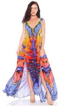 Parides Azure 'Glass Wind' Maxi Dress