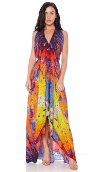 Parides Azure 'Glass Wind' 3 Ways To Style Maxi Dress