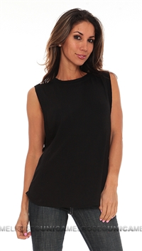 Riller & Fount Black Crew Neck Muscle Tee