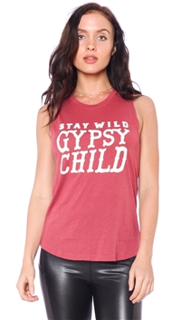 Spiritual Gangster Dusty Cedar 'Gypsy Child' Muscle Tank Top