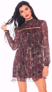 The Jetset Diaries Paisley 'Labyrinth' Mini Dress