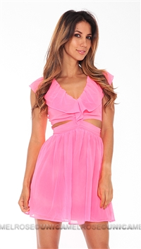 Keepsake Pink 'Lost Without You' Short Dress
