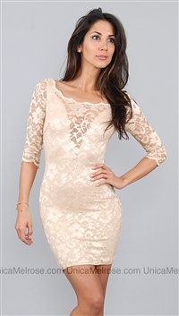 Kimikal Beige Lace Dress