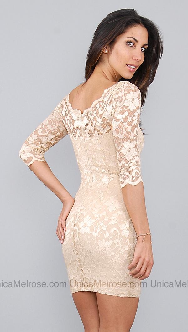 Kimikal Beige Lace Dress