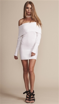 Lioness White 'Before The Storm' Knit Dress