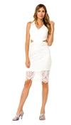 Lovers + Friends Ivory Spellbound Midi Dress
