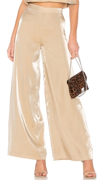 Lovers + Friends Gold 'Zoey' Wide Leg Pants