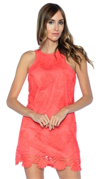 Lovers + Friends Coral Caspian Shift Dress