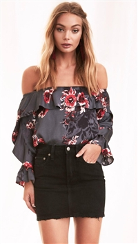 Lovers + Friends Romantic Floral 'Addie' Blouse