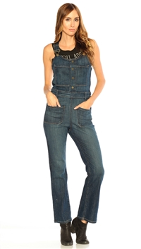 Frame Denim Radnor Le High Cropped Overalls