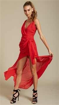 Lioness Red 'Take Me To Cannes' Maxi Dress