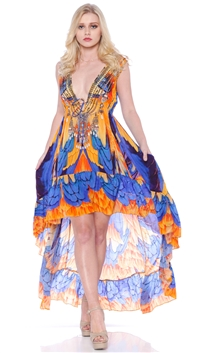 Parides Sunset Willow 'Macedonia' Hi-Low Dress