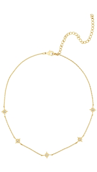 Five And Two Gold 'Mona' Star Choker