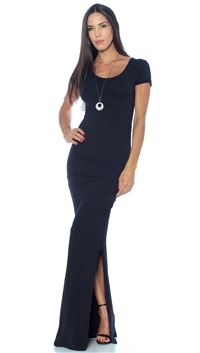 Nicole Andrews Collection Black 'Forever' Maxi Dress