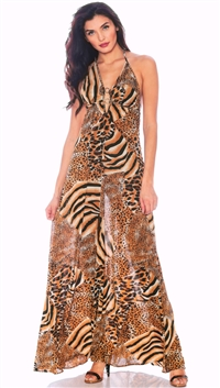 Nicole Andrews Animal 'Malibu' Maxi Dress