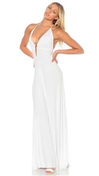 Nicole Andrews Collection White 'Malibu' Maxi Dress