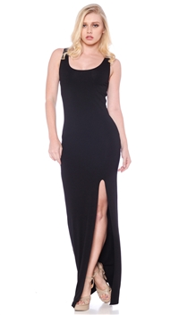Nicole Andrews Collection Black 'Malibu Mermaid' Maxi Dress