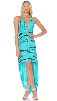 Nicole Andrews Collection Tie Dye 'Malibu' High-Low Dress