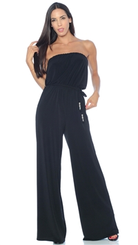 Nicole Andrews Collection Black 'Goddess' Jumpsuit