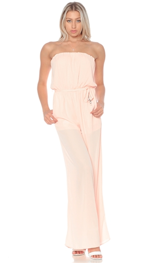 Nicole Andrews Collection Pink 'Goddess' Jumpsuit