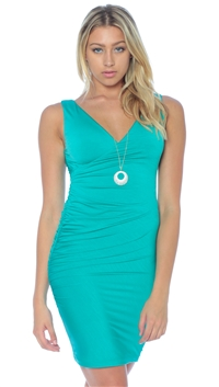 Nicole Andrews Collection Mint 'Forever' Wrap Mini Dress