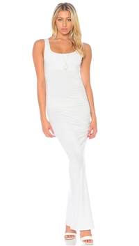 Nicole Andrews Collection White 'Forever' Tank Maxi Dress