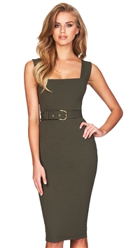 Nookie Olive Mariana Midi Dress