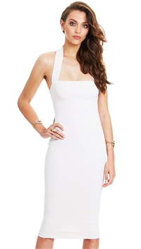 Nookie Nude 'Boulevard' Halter Midi Dress