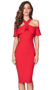 Nookie Red 'Hermosa' Midi Dress