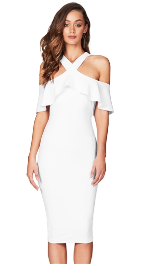Nookie White 'Hermosa' Midi Dress