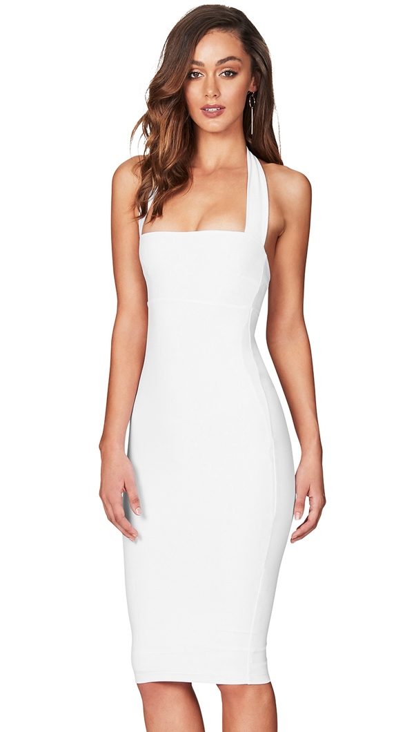 e20e6786602d Nookie White  Boulevarde  Halter Midi Dress