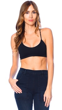 Free People Black 'Baby Racerback' Seamless Bra