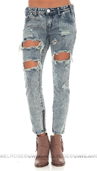 One Teaspoon Blue 'Freebird' Awesome Baggies Jeans