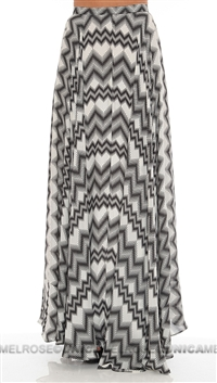 Parker NY Harrison Black and White Pattern Skirt