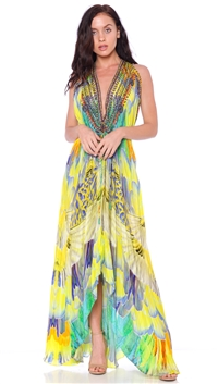 Parides Lemon Drop 'Parrot Macaw' 3 Way Dress