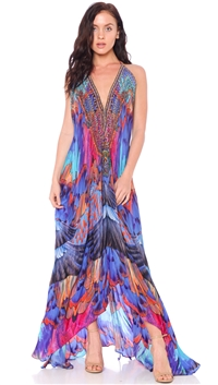 Parides Purple Rain 'Parrot Macaw' 3 Way Dress