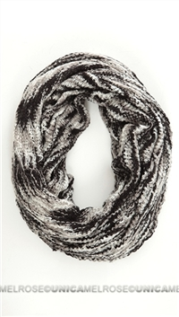 Paula Bianco Black Cream and Grey Scarf