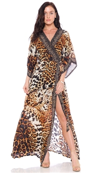 Parides Panther Wrap Style Dress