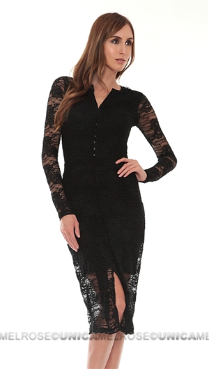 Nightcap Black Lace Dress