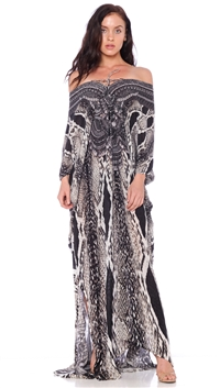 Parides Caviar Black 'Payton' 3 Way Long Kaftan