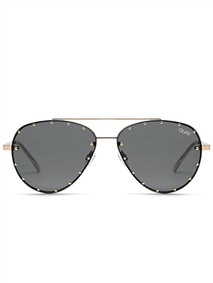 "Quay Gold/Smoke ""Roxanne"" Sunglasses"
