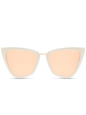"Quay Pearl/Rose Mirror ""Reina"" Sunglasses"