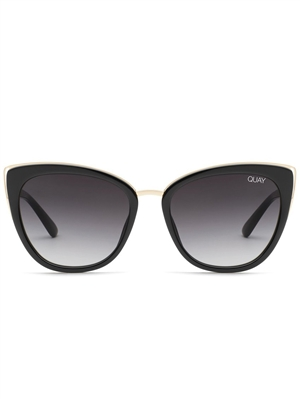"Quay Black/Smoke ""Honey"" Sunglasses"