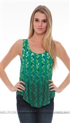Lovers + Friends Green Late Night Top