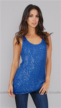 Renzo + Kai Royal Blue Tank Top with Sequin