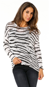 Generation Love Zebra Pullover