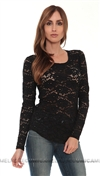 Generation Love Black Lace Top